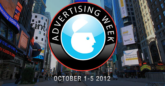 Find me during Advertising Week 2012 in New York