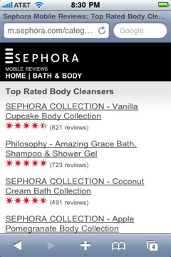 Sephora Mobile Shopping Assistant